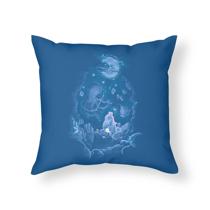 Sleeping With The Fishes Home Throw Pillow by Made With Awesome