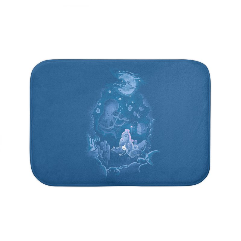 Sleeping With The Fishes Home Bath Mat by Made With Awesome