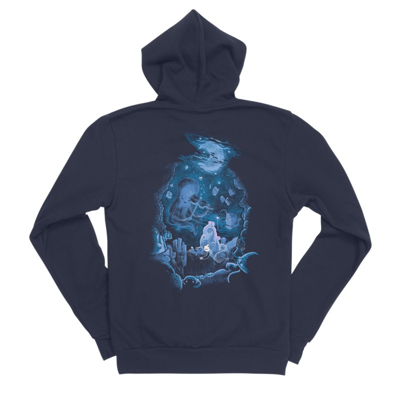Sleeping With The Fishes Women's Sponge Fleece Zip-Up Hoody by Made With Awesome