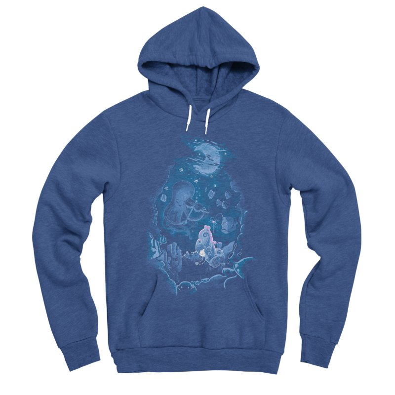 Sleeping With The Fishes Men's Sponge Fleece Pullover Hoody by Made With Awesome