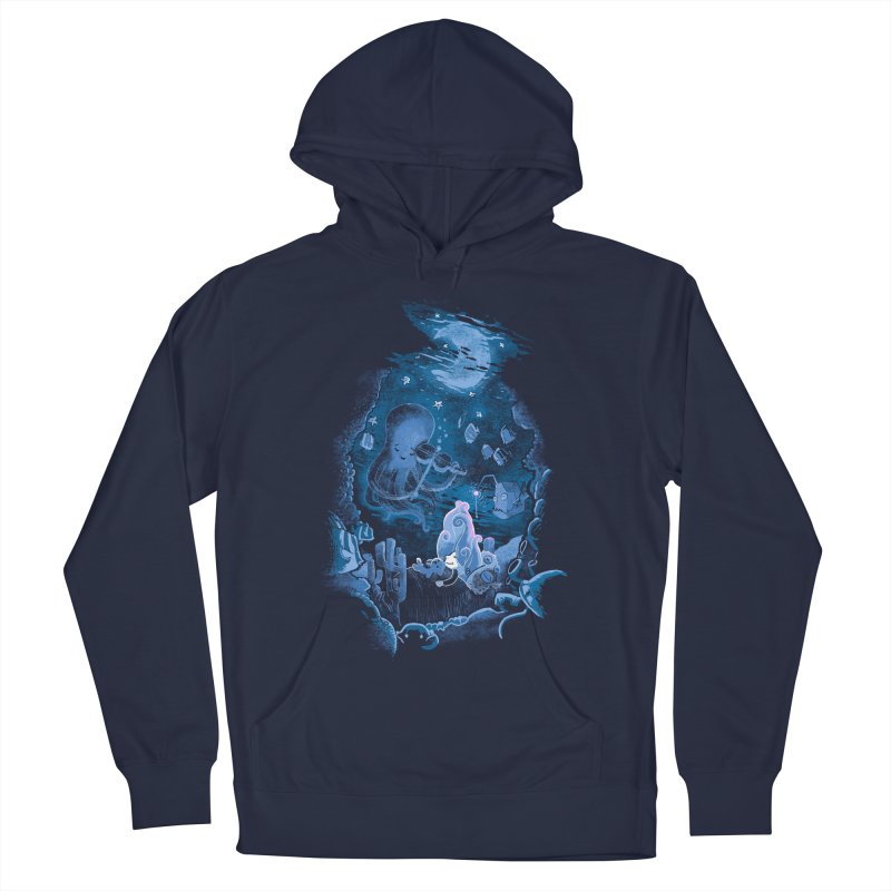 Sleeping With The Fishes Men's French Terry Pullover Hoody by Made With Awesome