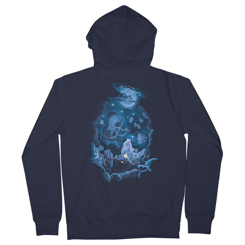 Sleeping With The Fishes Women's French Terry Zip-Up Hoody by Made With Awesome
