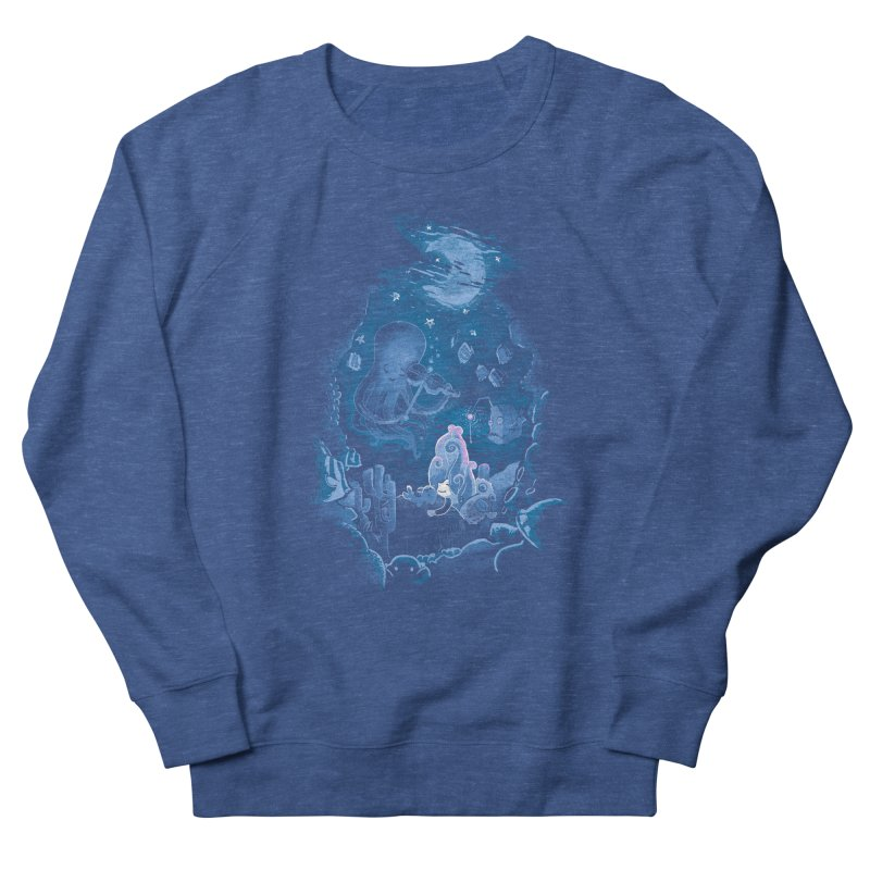 Sleeping With The Fishes Men's French Terry Sweatshirt by Made With Awesome