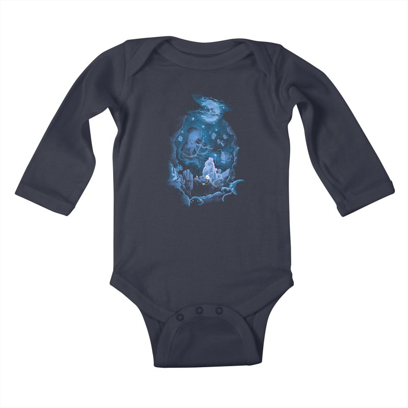 Sleeping With The Fishes Kids Baby Longsleeve Bodysuit by Made With Awesome