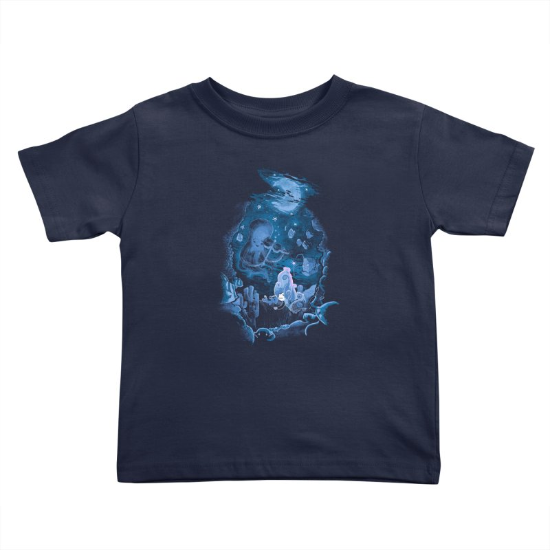 Sleeping With The Fishes Kids Toddler T-Shirt by Made With Awesome