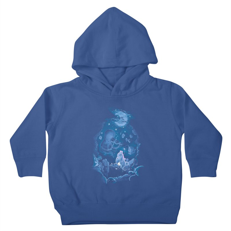 Sleeping With The Fishes Kids Toddler Pullover Hoody by Made With Awesome