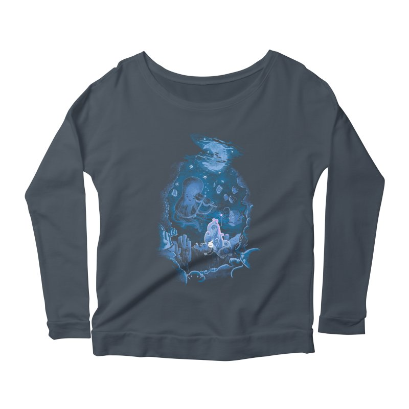 Sleeping With The Fishes Women's Scoop Neck Longsleeve T-Shirt by Made With Awesome