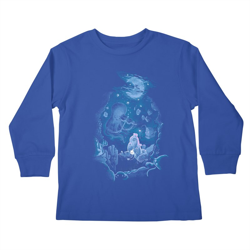 Sleeping With The Fishes Kids Longsleeve T-Shirt by Made With Awesome