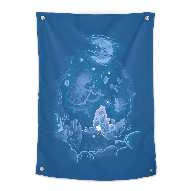 Sleeping With The Fishes Home Tapestry by Made With Awesome