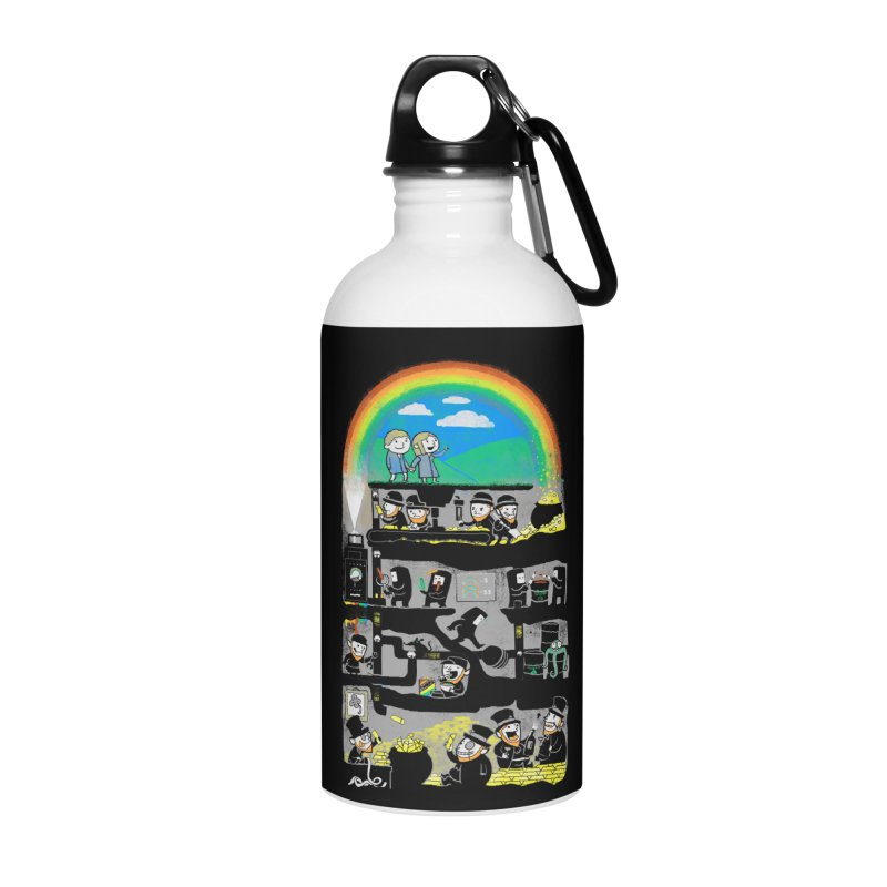 End of the Rainbow Accessories Water Bottle by Made With Awesome