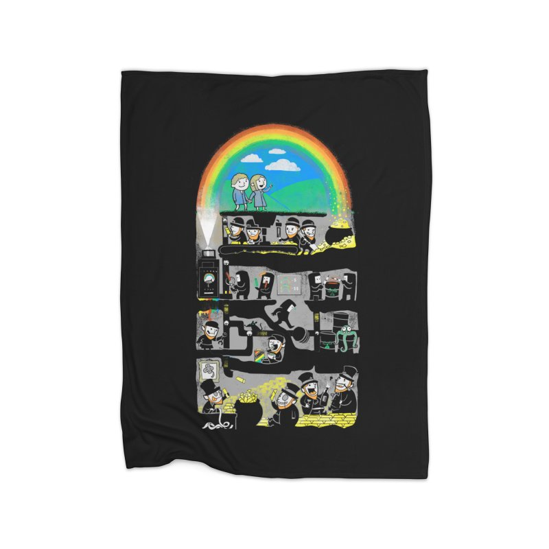 End of the Rainbow Home Blanket by Made With Awesome