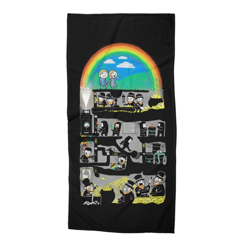 End of the Rainbow Accessories Beach Towel by Made With Awesome