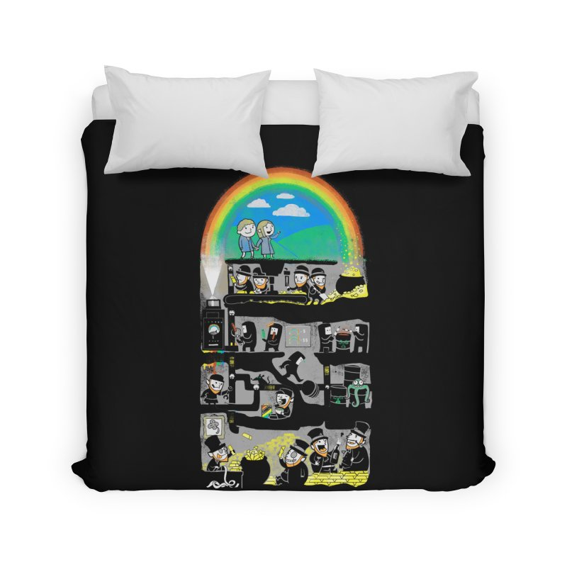 End of the Rainbow Home Duvet by Made With Awesome