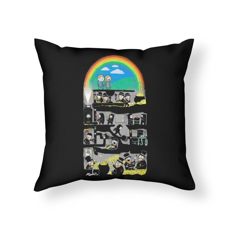 End of the Rainbow Home Throw Pillow by Made With Awesome