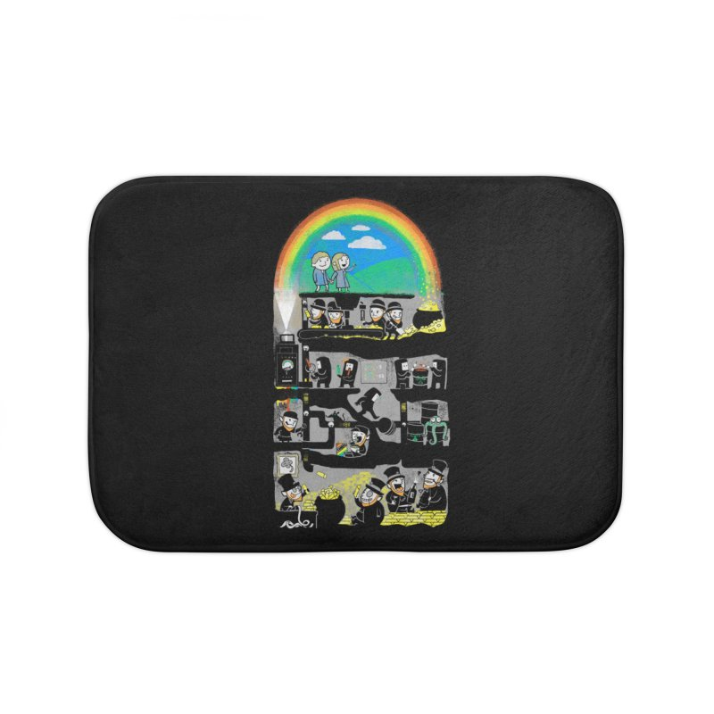 End of the Rainbow Home Bath Mat by Made With Awesome