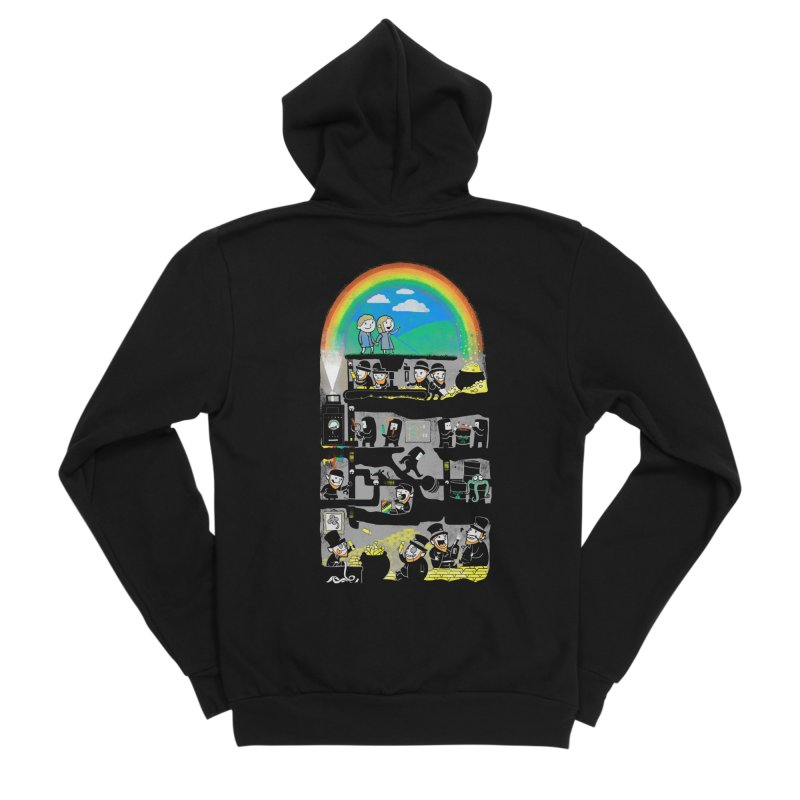 End of the Rainbow Men's Sponge Fleece Zip-Up Hoody by Made With Awesome