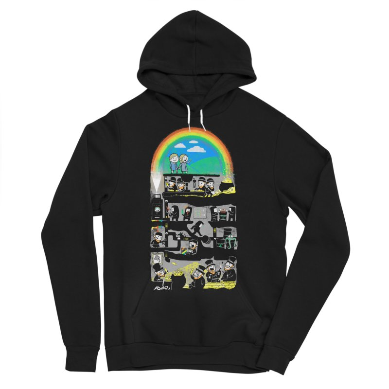 End of the Rainbow Men's Sponge Fleece Pullover Hoody by Made With Awesome