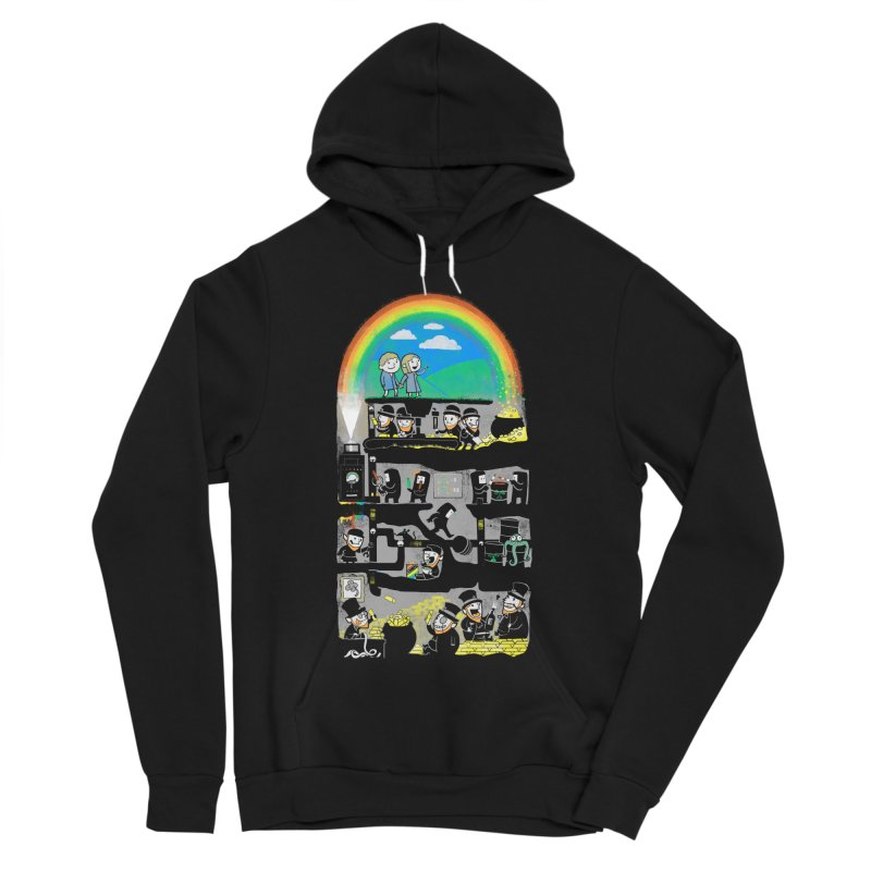 End of the Rainbow Women's Sponge Fleece Pullover Hoody by Made With Awesome