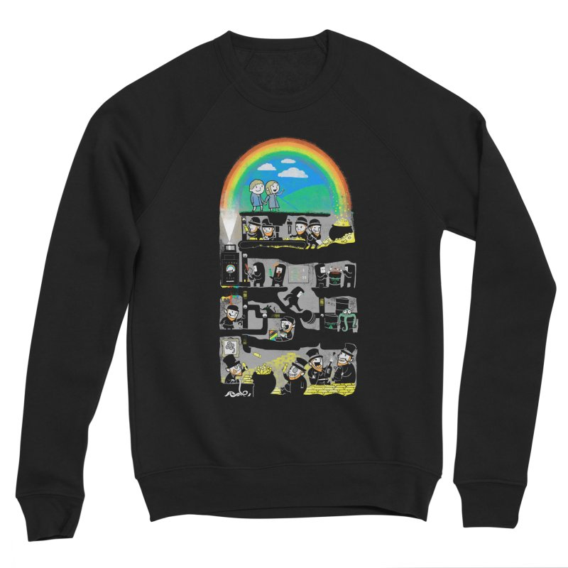 End of the Rainbow Men's Sponge Fleece Sweatshirt by Made With Awesome