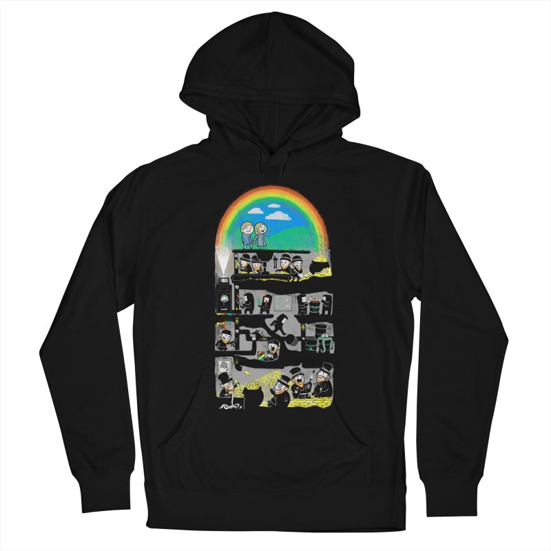 End of the Rainbow Men's French Terry Pullover Hoody by Made With Awesome