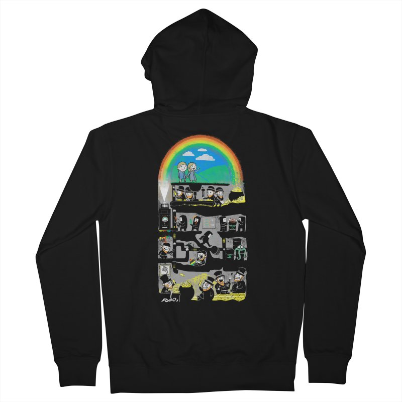 End of the Rainbow Men's French Terry Zip-Up Hoody by Made With Awesome