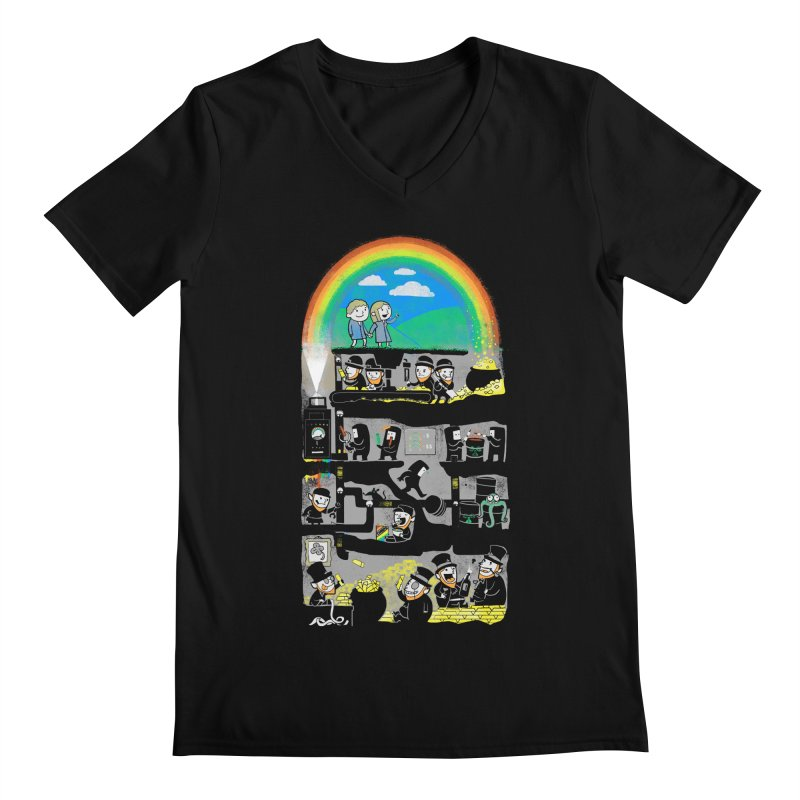 End of the Rainbow Men's Regular V-Neck by Made With Awesome