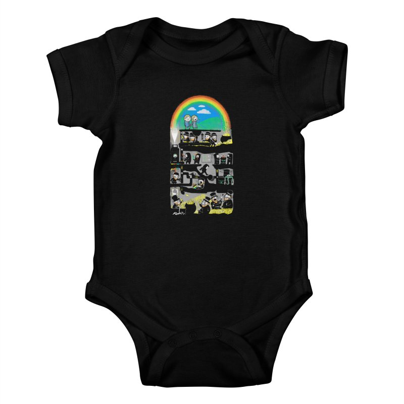 End of the Rainbow Kids Baby Bodysuit by Made With Awesome
