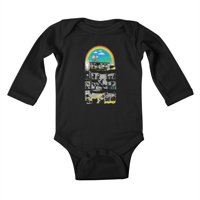 End of the Rainbow Kids Baby Longsleeve Bodysuit by Made With Awesome