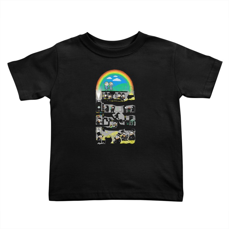 End of the Rainbow Kids Toddler T-Shirt by Made With Awesome
