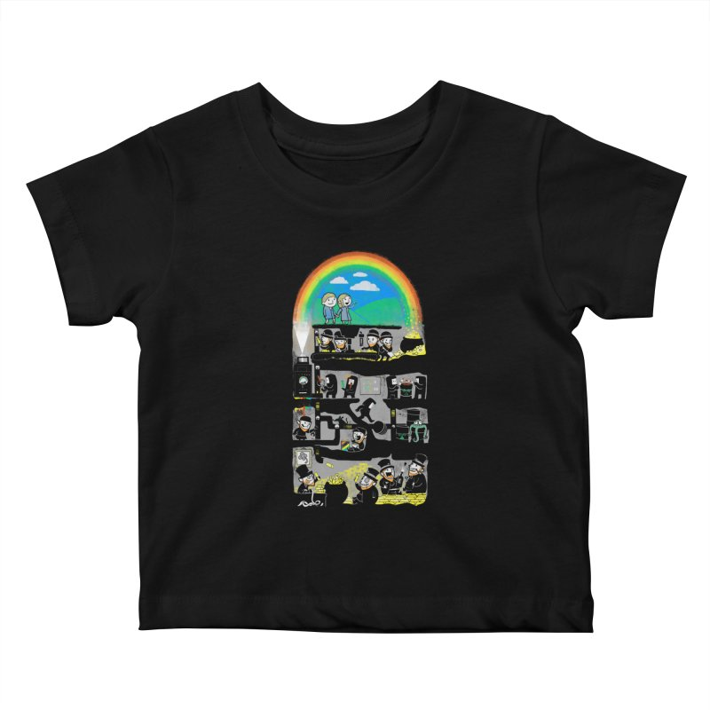 End of the Rainbow Kids Baby T-Shirt by Made With Awesome