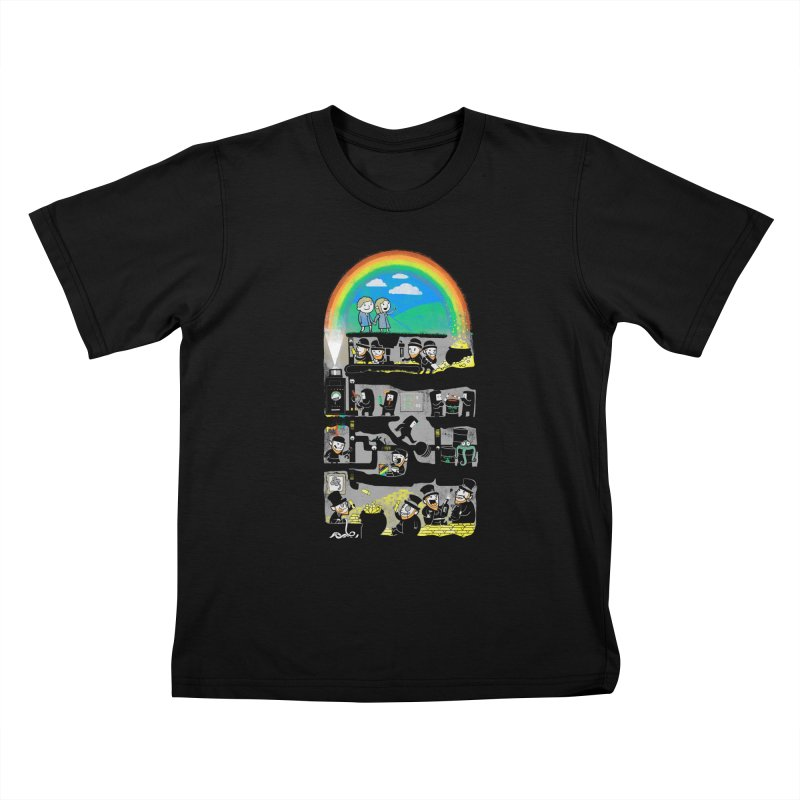 End of the Rainbow Kids T-Shirt by Made With Awesome