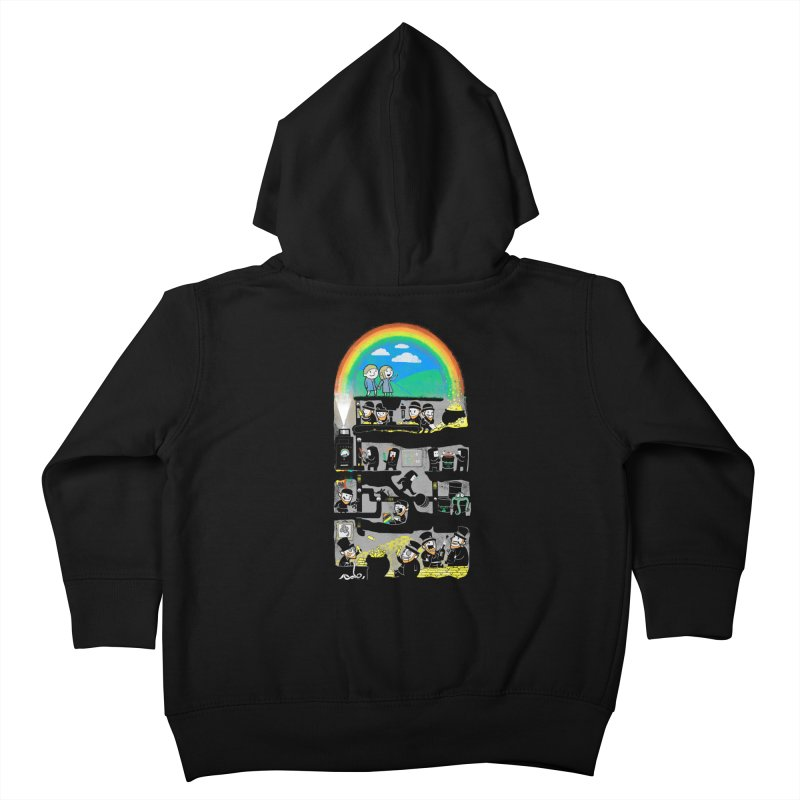 End of the Rainbow Kids Toddler Zip-Up Hoody by Made With Awesome