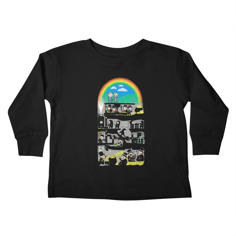 End of the Rainbow Kids Toddler Longsleeve T-Shirt by Made With Awesome