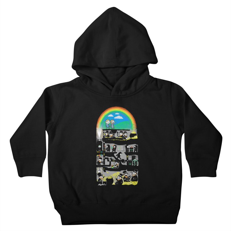 End of the Rainbow Kids Toddler Pullover Hoody by Made With Awesome