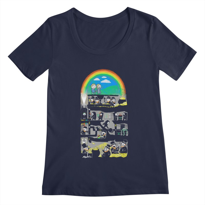 End of the Rainbow Women's Regular Scoop Neck by Made With Awesome