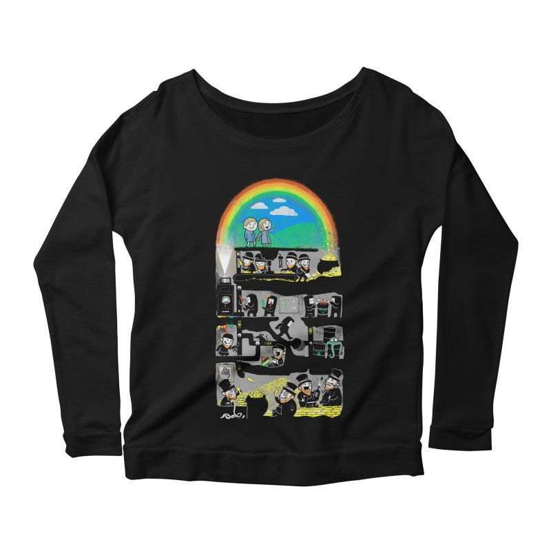End of the Rainbow Women's Scoop Neck Longsleeve T-Shirt by Made With Awesome