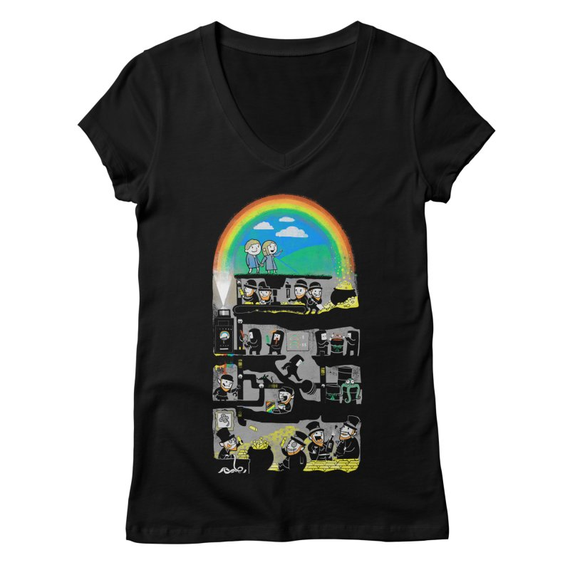 End of the Rainbow Women's Regular V-Neck by Made With Awesome