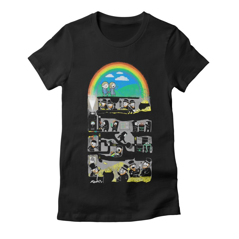 End of the Rainbow Women's Fitted T-Shirt by Made With Awesome