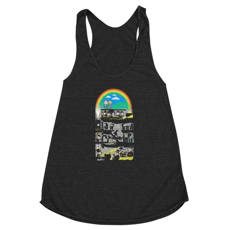 End of the Rainbow Women's Racerback Triblend Tank by Made With Awesome