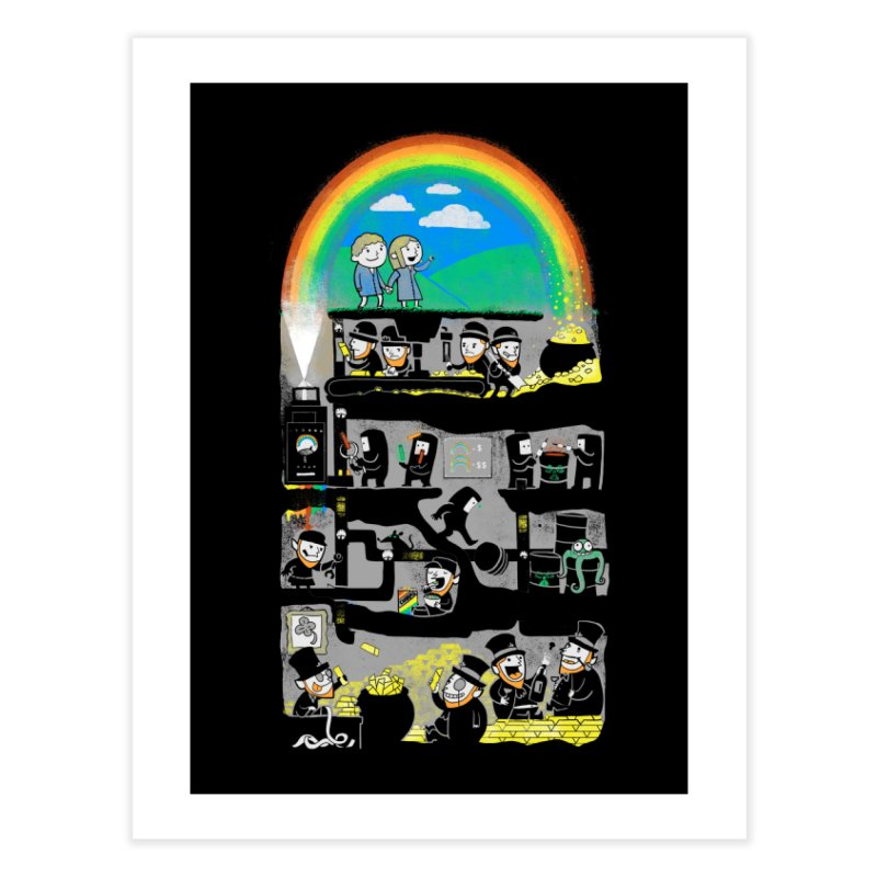 End of the Rainbow Home Fine Art Print by Made With Awesome