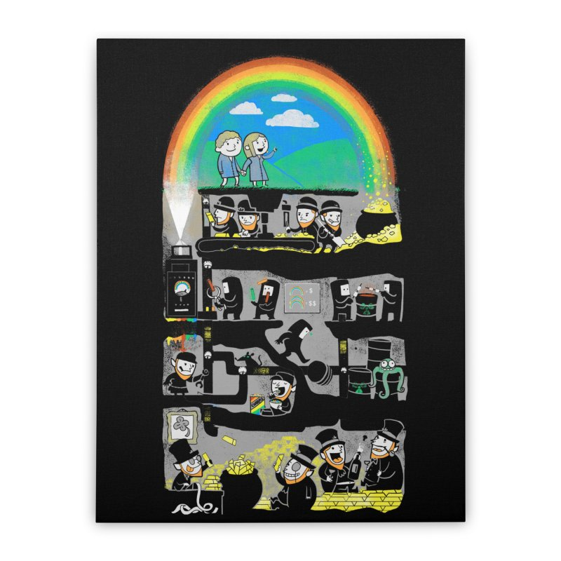 End of the Rainbow in Stretched Canvas by Made With Awesome