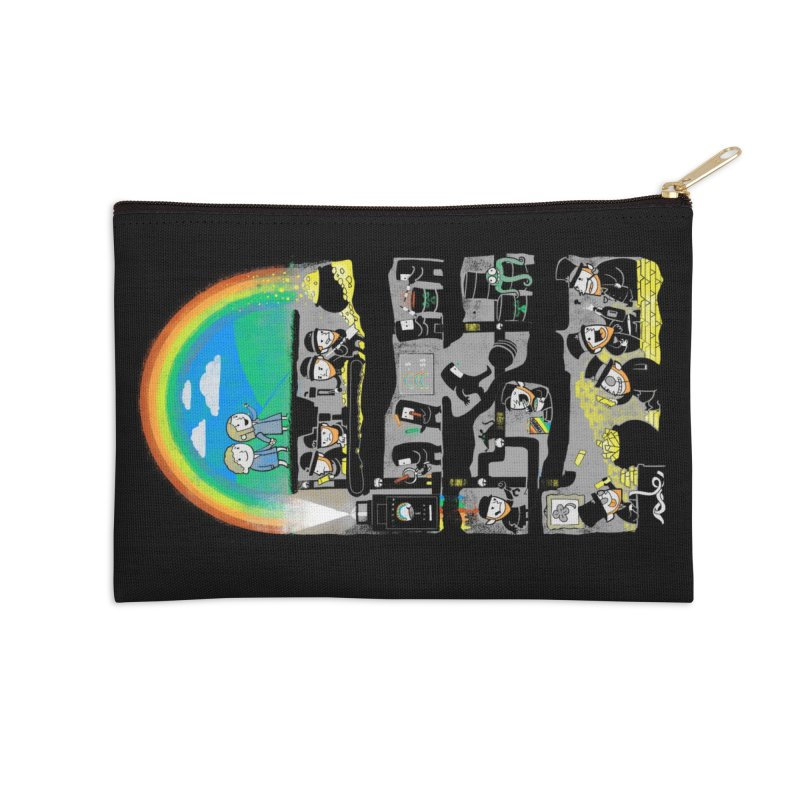 End of the Rainbow Accessories Zip Pouch by Made With Awesome