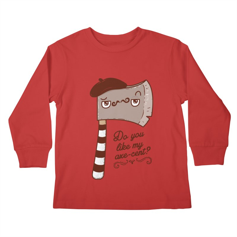 Pardon My French Kids Longsleeve T-Shirt by Made With Awesome