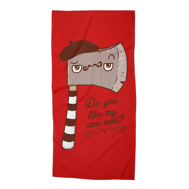 Pardon My French Accessories Beach Towel by Made With Awesome