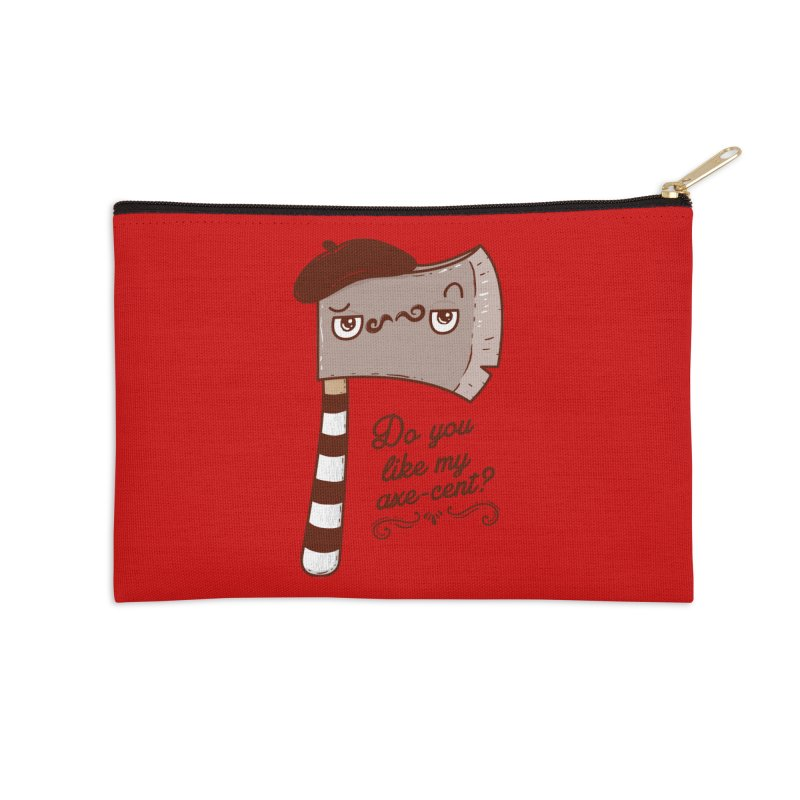 Pardon My French Accessories Zip Pouch by Made With Awesome