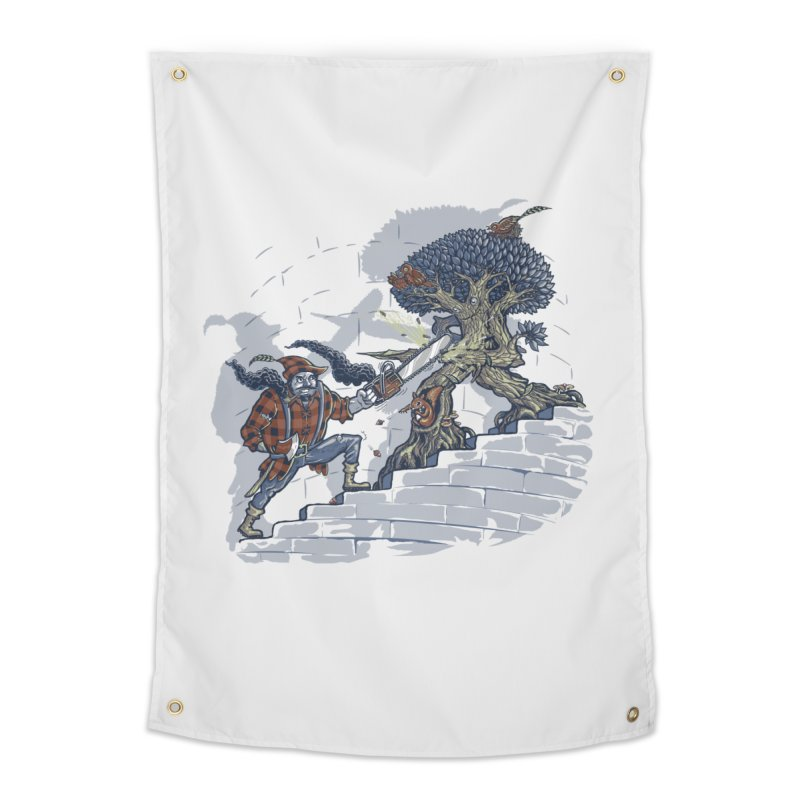 The Never Ending Duel Home Tapestry by Made With Awesome