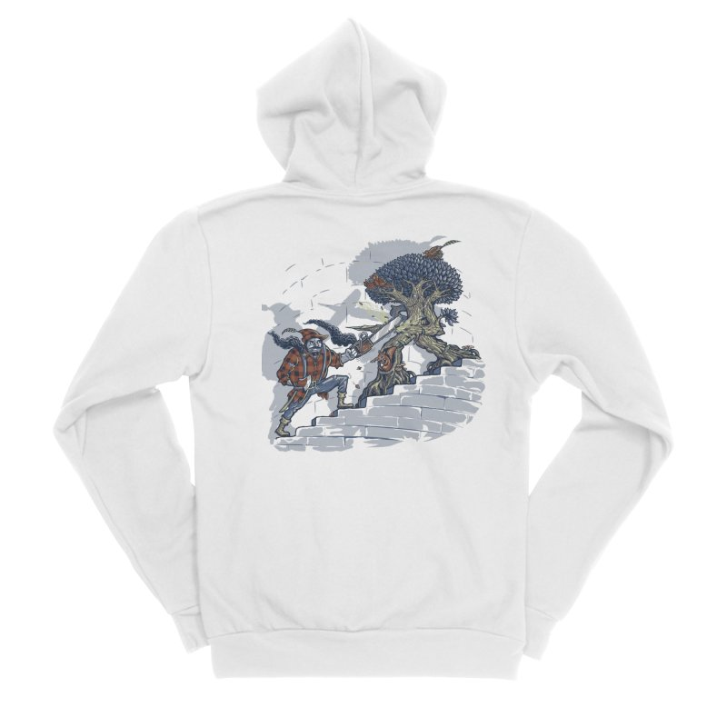 The Never Ending Duel Men's Sponge Fleece Zip-Up Hoody by Made With Awesome