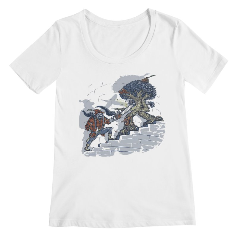 The Never Ending Duel Women's Regular Scoop Neck by Made With Awesome