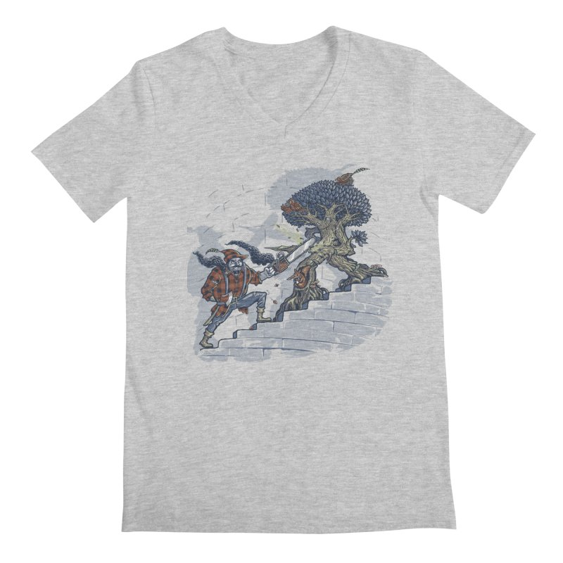 The Never Ending Duel Men's Regular V-Neck by Made With Awesome