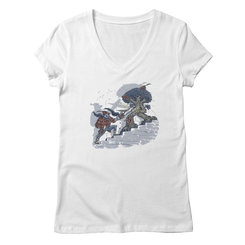 The Never Ending Duel Women's V-Neck by Made With Awesome